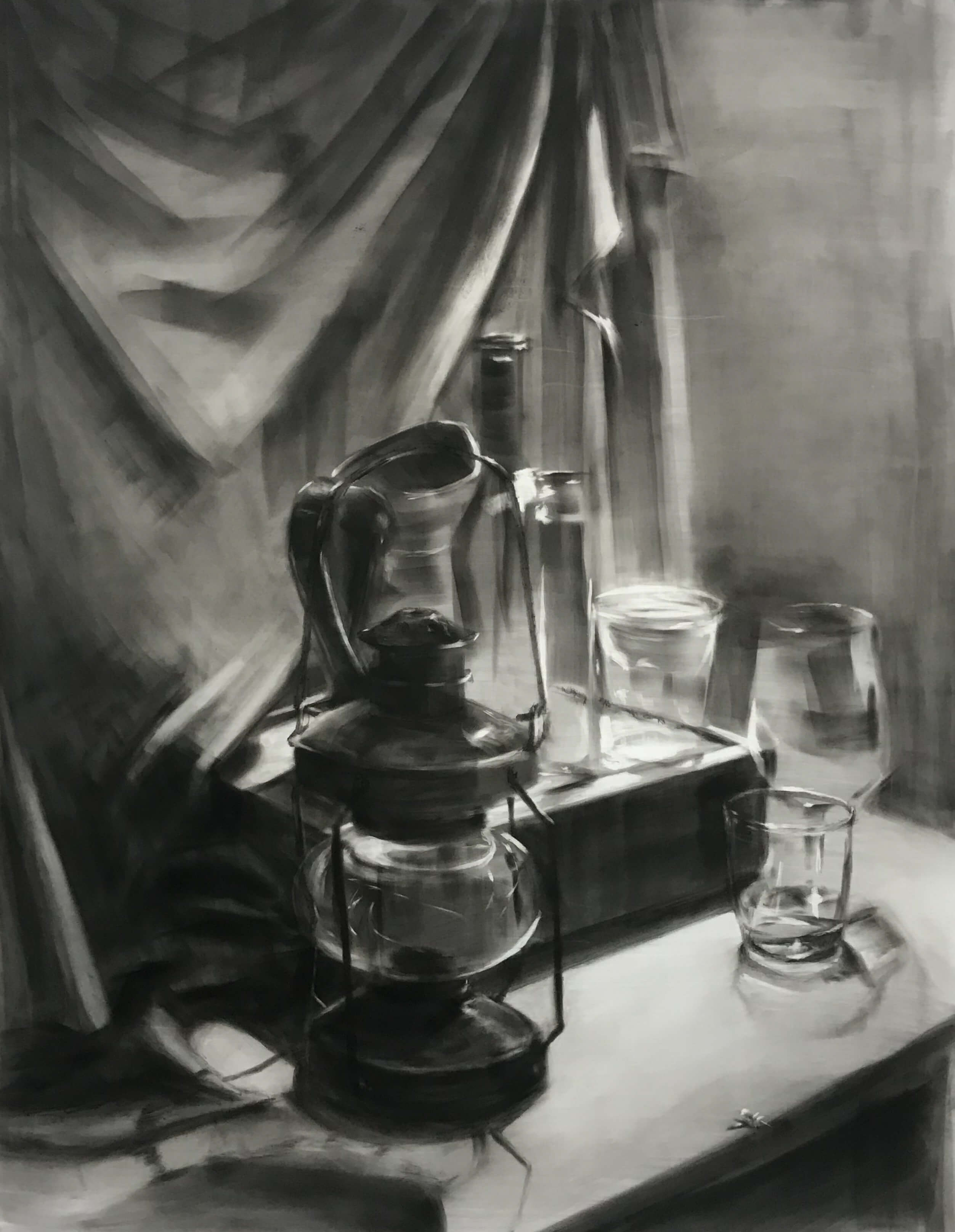 "Andrew Cortez_24""x18""_panpastel and charcoal on duralar"